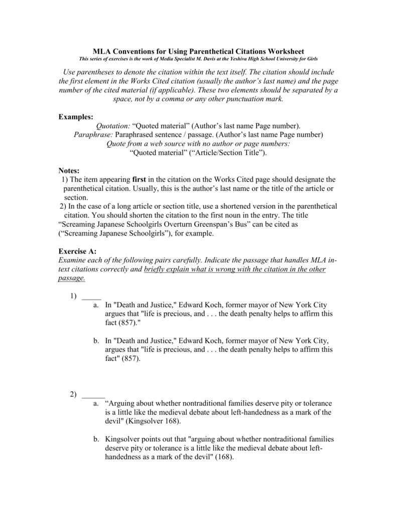 Worksheet In Text Citation Worksheet Grass Fedjp