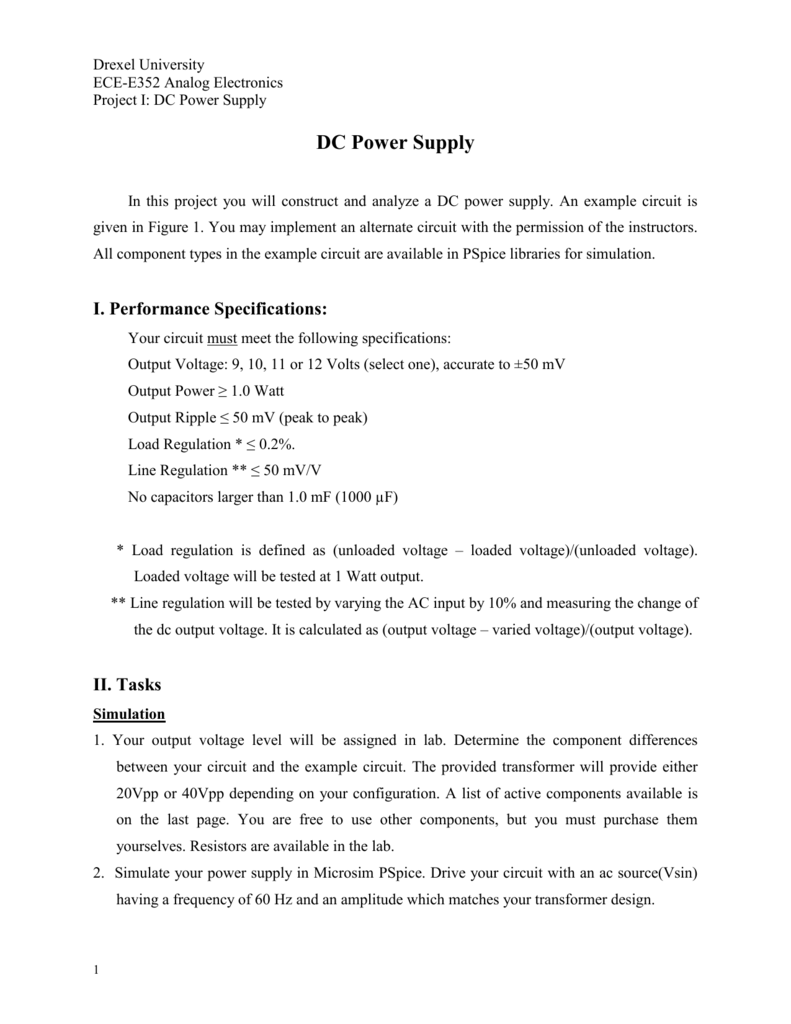 The Dc Power Supply Project Voltage Regulator Circuit Together With Ac Circuits
