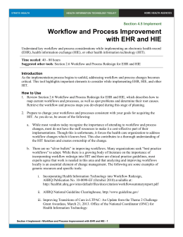 Workflow and Process Improvement with EHR and HIE