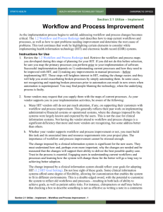 2.1 Workflow and Process Improvement