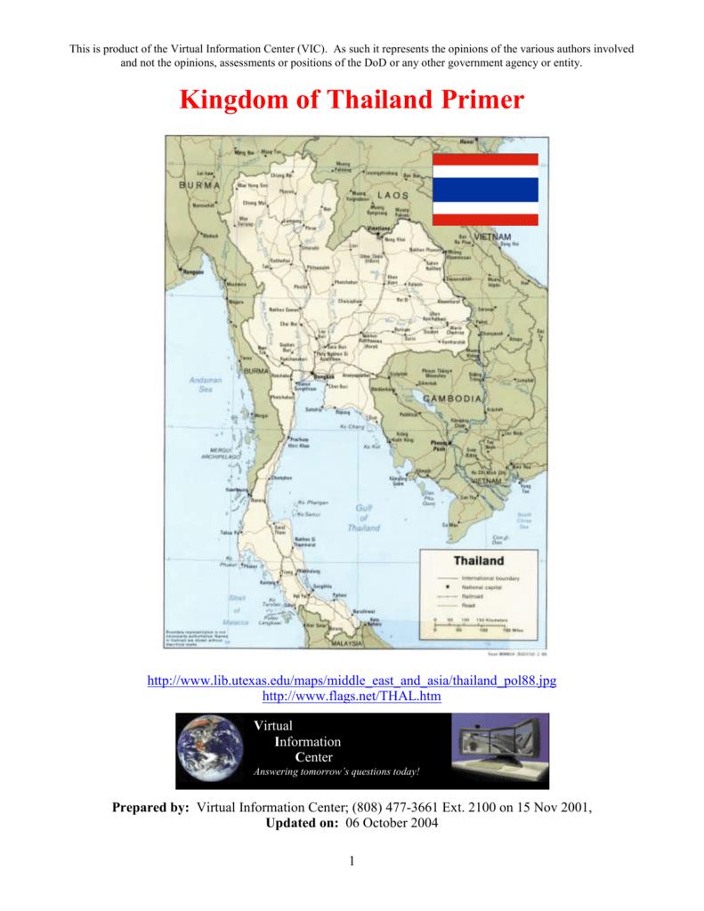 Kingdom of Thailand Primer - The Akha Heritage Foundation