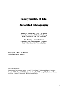 Annotated Bibliography - Part I - Center for Development of Human