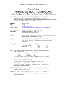 Course Outline - Department of Mathematics & Statistics | McMaster