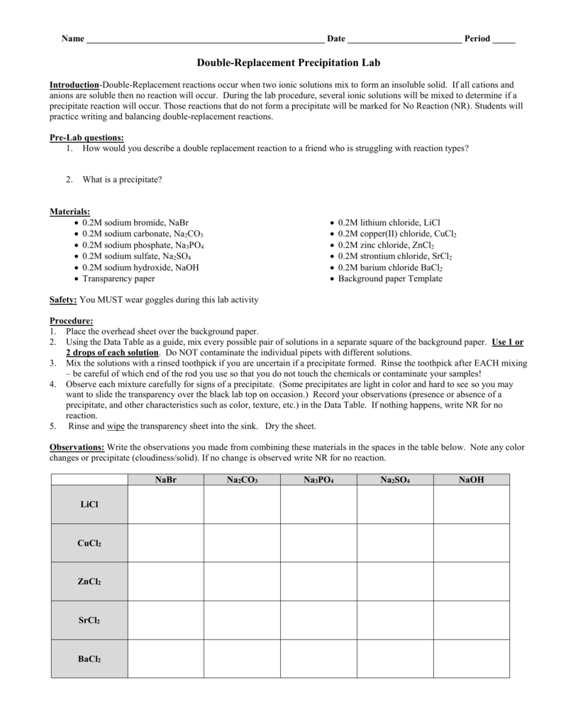 worksheet  precipitation reactions worksheet  worksheet fun worksheet study site
