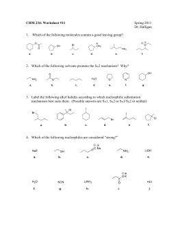 CHM 234: Worksheet #1