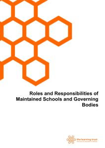 Roles and Responsibilities of Maintained Schools and Governing