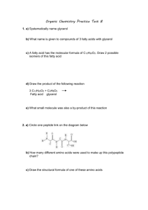 Systematically name glycerol - BHS Chemistry