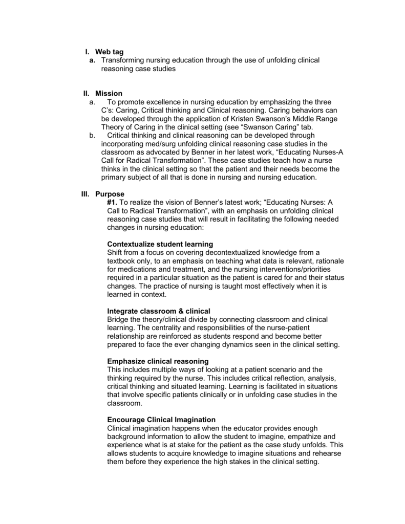 critical thinking scenarios for nursing students Nursing's buzzword: critical thinking nursing students begin to hear about critical thinking skills early in nursing school but what is critical thinking and why.
