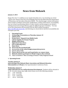 News from Mohawk January 5, 2013 Happy New Year! In addition to