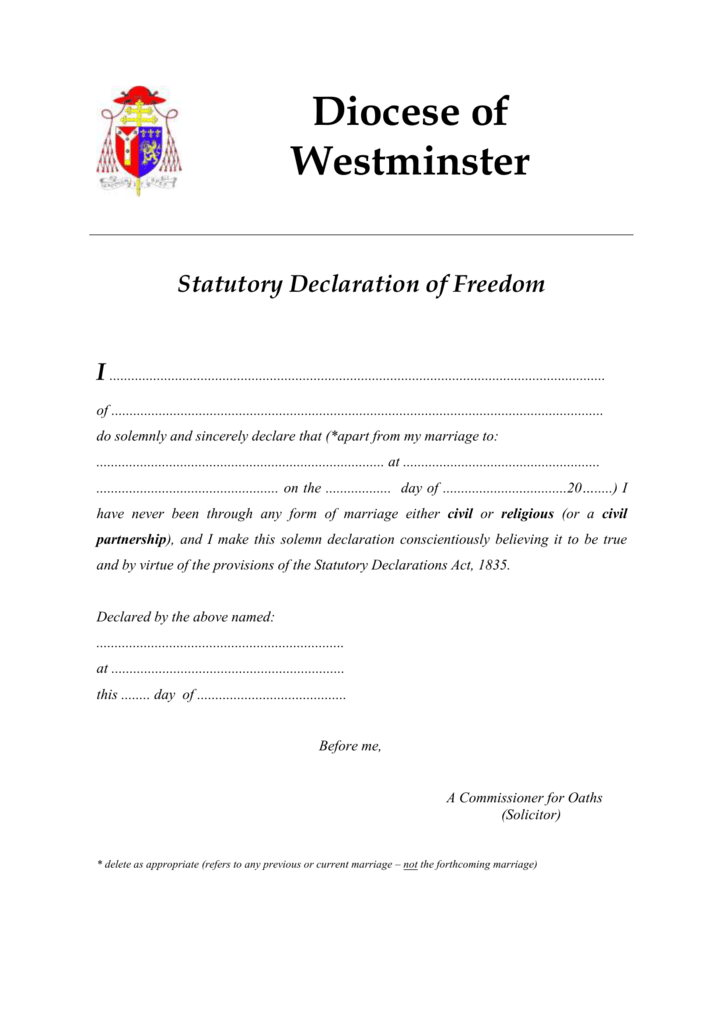 Declaration of freedom to marry altavistaventures Image collections