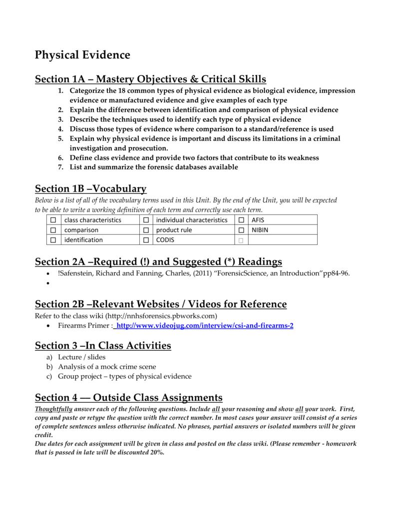 ecology unit outline