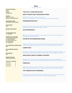 Executive Summary Template