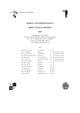 Annual Report 2006 - Barge's Anthropologica