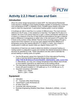 Activity 2.2.3 Heat Loss and Gain