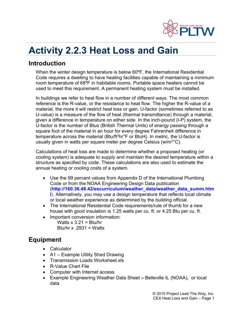 Activity 2 2 3 Heat Loss and Gain