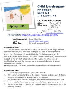 CD SP 2013 syllabus - St. Edwards University