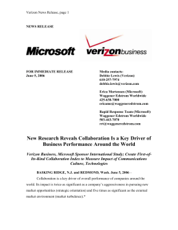 news release - Verizon Conferencing