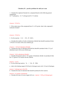 Chemistry-II: practice problems for mid-year exam - cat-chem