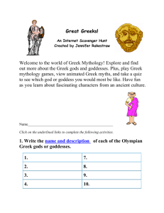 Great Greeks! An Internet Scavenger Hunt Created by Jennifer