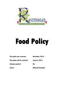 Food Policy - Ravenshead C of E Primary School