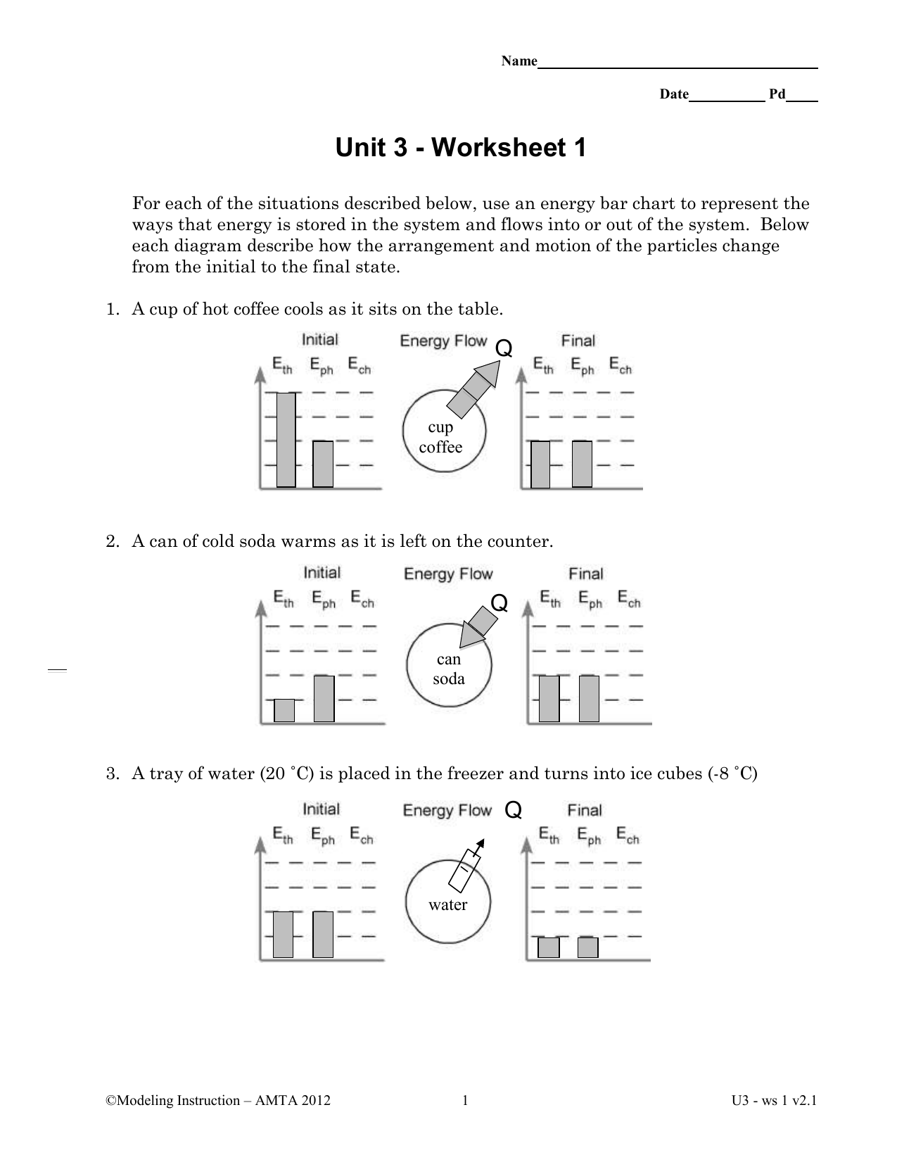 Chemistry unit 3 worksheet 4 quantitative energy problems answers