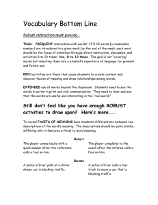 Vocabulary Bottom Line