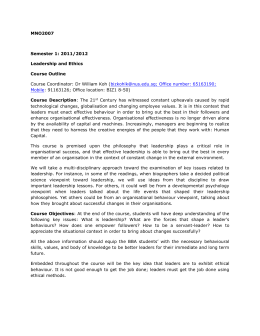 mno2007 leadership The leadership of jack welch - download as pdf file (pdf), text file (txt) or read online  mno2007 – leadership and ethics group assignment: jack welch.