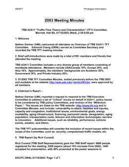 tft0103r - Committee on Traffic Flow Theory and Characteristics