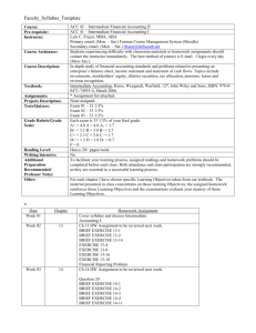 Syllabus Template: Template would be kept online each semester in