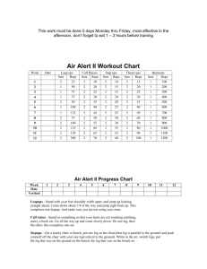 Air Alert II Workout Chart