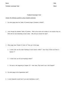 Textbook Scavenger Hunt – Holt Science Spectrum