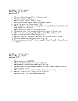 U.S. History Unit 5: Civil War Chapter 4 (pages 194