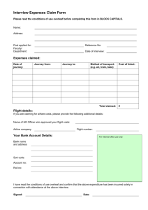 Interview Expenses Claim Form