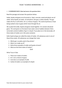 Homework 3-Solid Liquid Gas