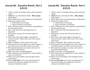 Journal #6: Executive Branch, Part 2