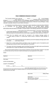 Drainage Covenant Form - Monroe County Road Commission
