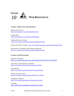 Web Resources - Trumbull County Educational Service Center
