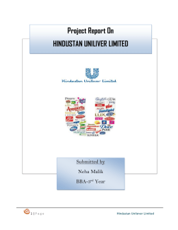 hul report Research report on lakme (a product of hindustan unilever ltd) [pic] submitted by: mayur wali contents executive summary 1.