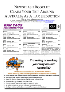 Claim Your Trip Around Australia As A Tax Deduction