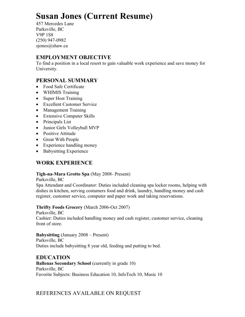 Extraordinary nanny resume sample objectives in babysitter bunch ideas of sample reference letter for adoption agency also spiritdancerdesigns Gallery