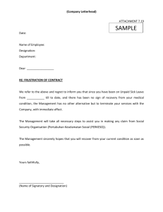 (Company Letterhead) ATTACHMENT 7.19 Date: Name of