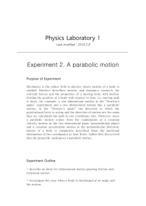Physics Laboratory 1 Last modified : 2010.2.8 Experiment 2. A