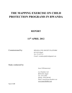 Read the whole research on child rights mapping exercise