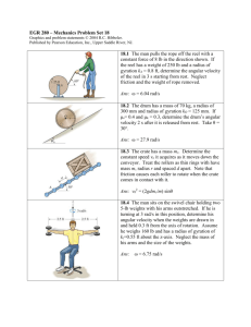 EGR 280 – Mechanics Problem Set 1