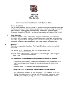 English 9 course outline - Bridgman Public Schools