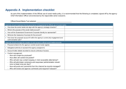 Appendix A Implementation Checklist