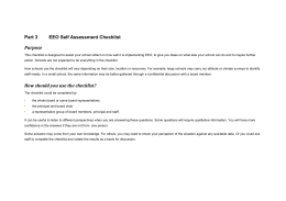EEO Self Assessment Checklist