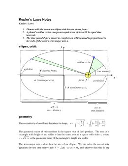 Kepler's Laws Notes
