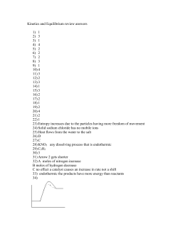 Mole Ratio worksheet