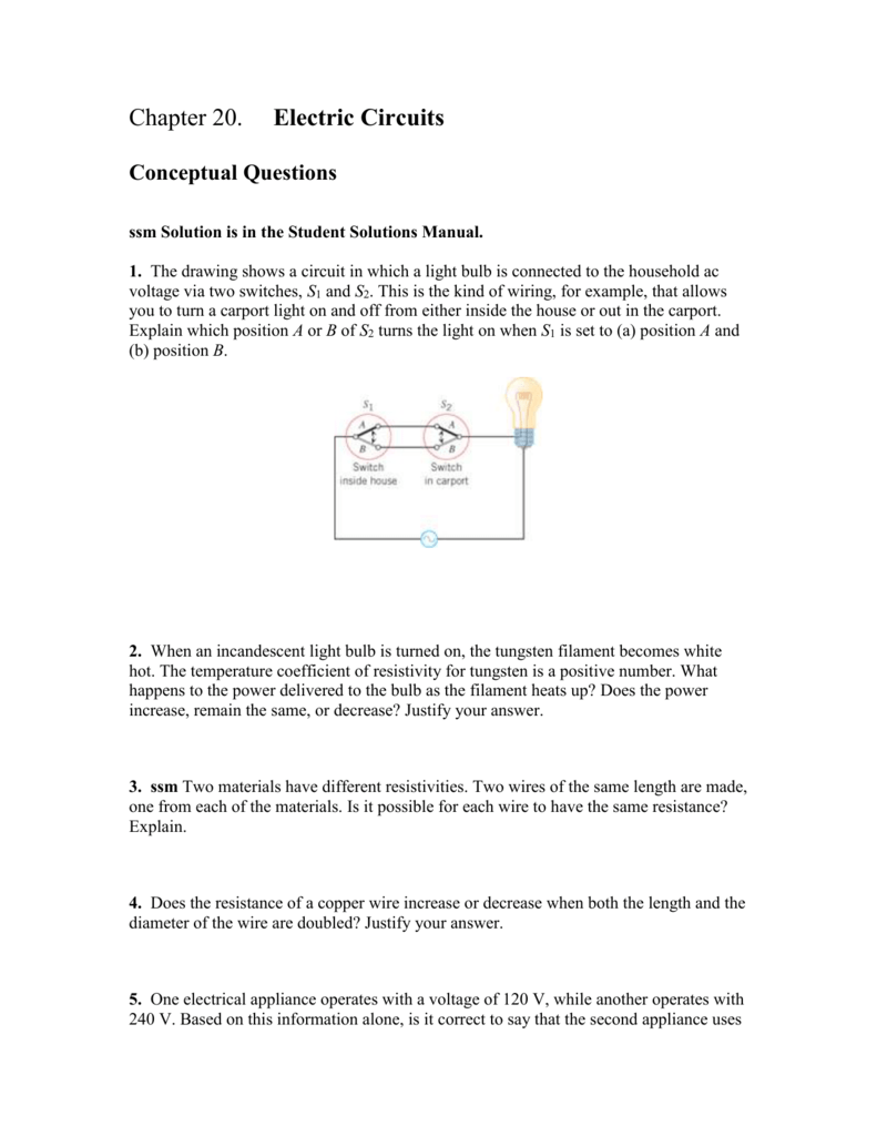 Chapter 20 Household Ac Wiring